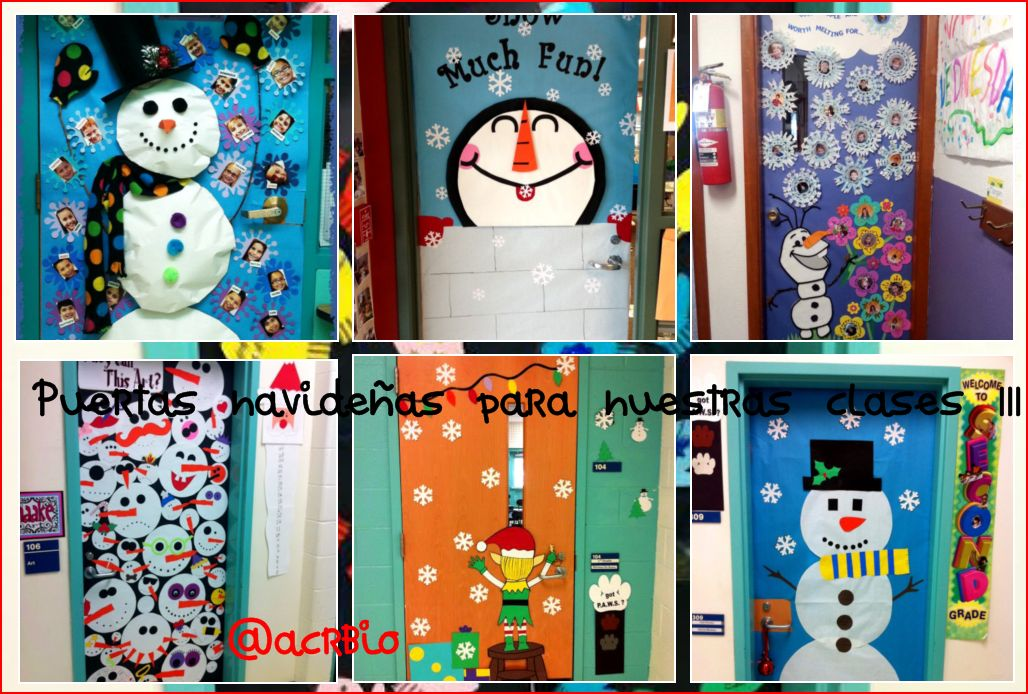 Puertas navide as para nuestras clases iii - Como decorar el salon en navidad ...