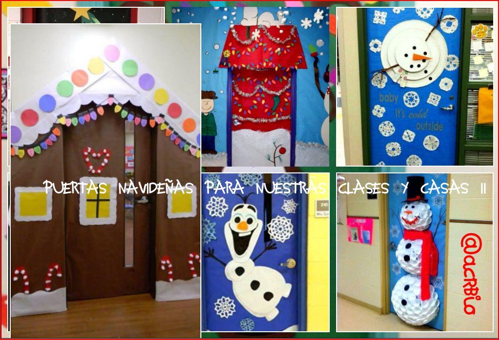 Puertas navide as para nuestras clases ii for Puertas de material reciclado