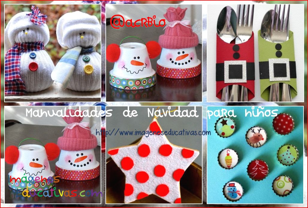 Manualidades navide as para ni os sencillas y divertidas for Decoracion navidena para ninos