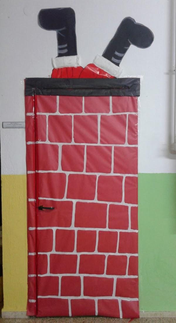 Puertas11 imagenes educativas for Puertas decoradas navidad material reciclable