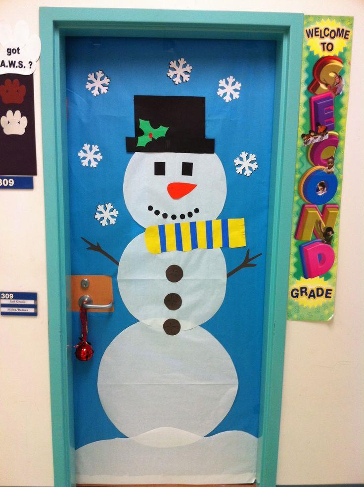 Decoracion de navidad con reciclaje para puertas - Decoracion de navidad para puertas ...