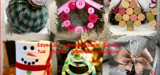 Adornos navideños manualidades Collage