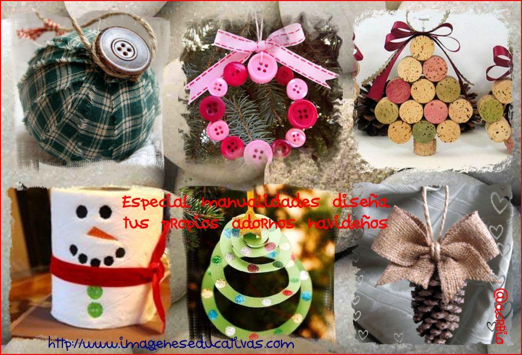 Adornos navideños manualidades Collage - Imagenes Educativas