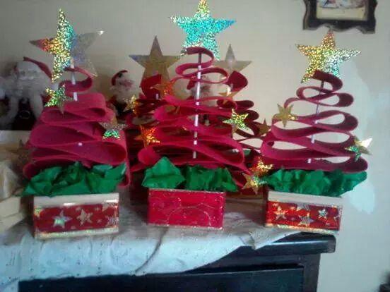 Arboles de navidad manualidades iv 2 imagenes educativas - Manualidades de arboles de navidad ...