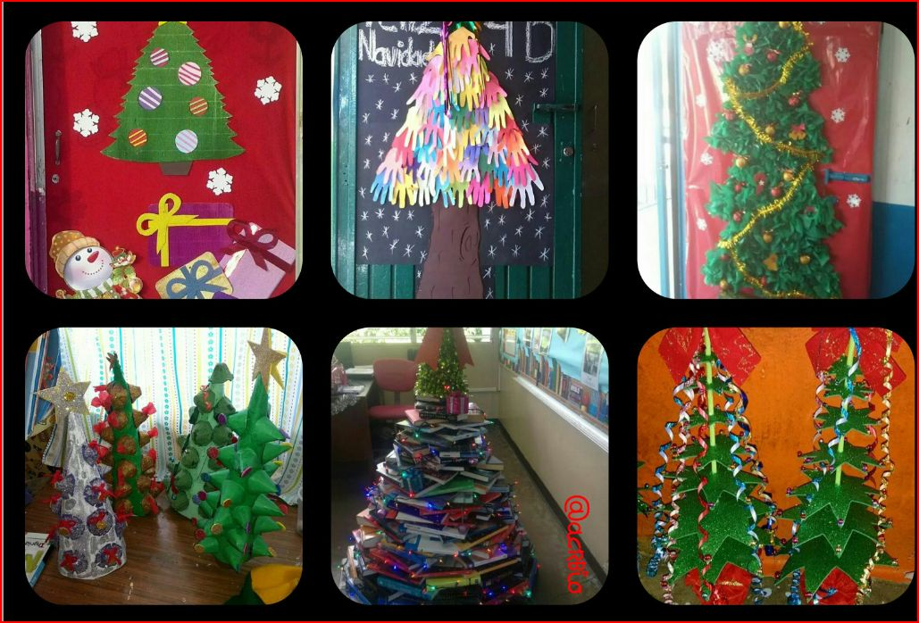 Dise a tu arbol de navidad vuestras creaciones - Manualidades para navidades faciles ...