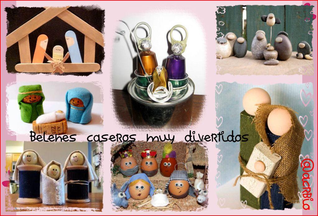 Belenes caseros muy divertidos - Belenes de navidad manualidades ...