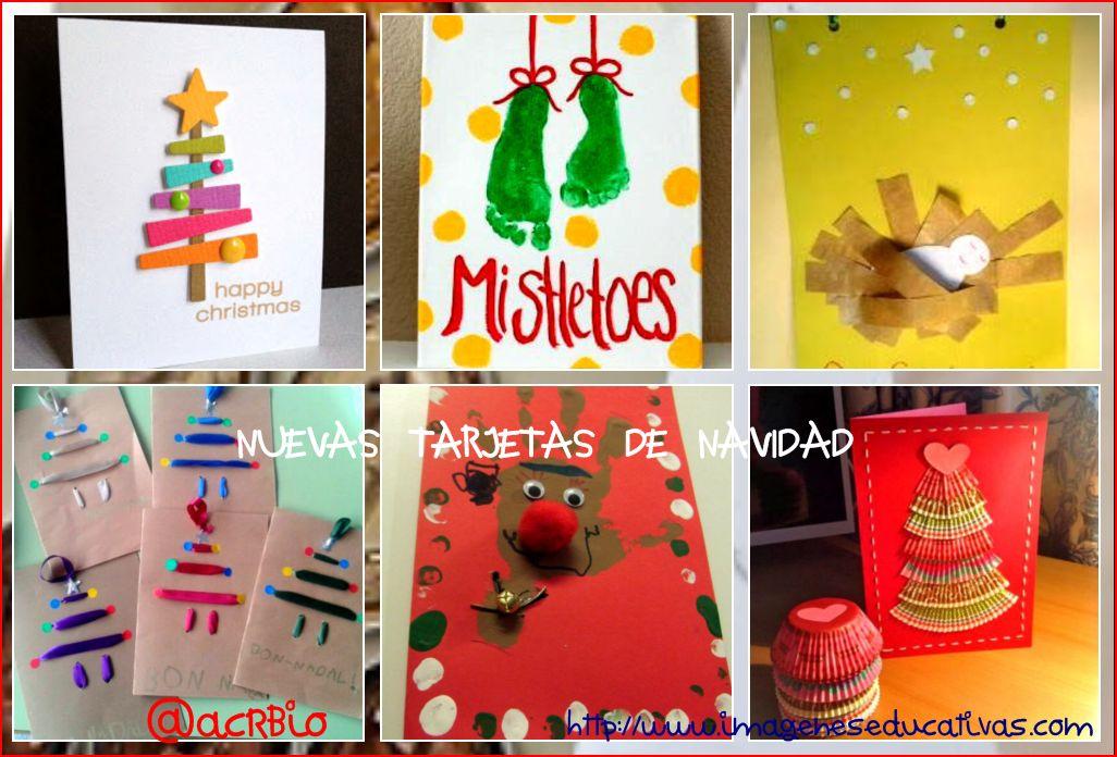 Nuevas y divertidas tarjetas de navidad para hacer en clase for Dibujos postales navidad ninos