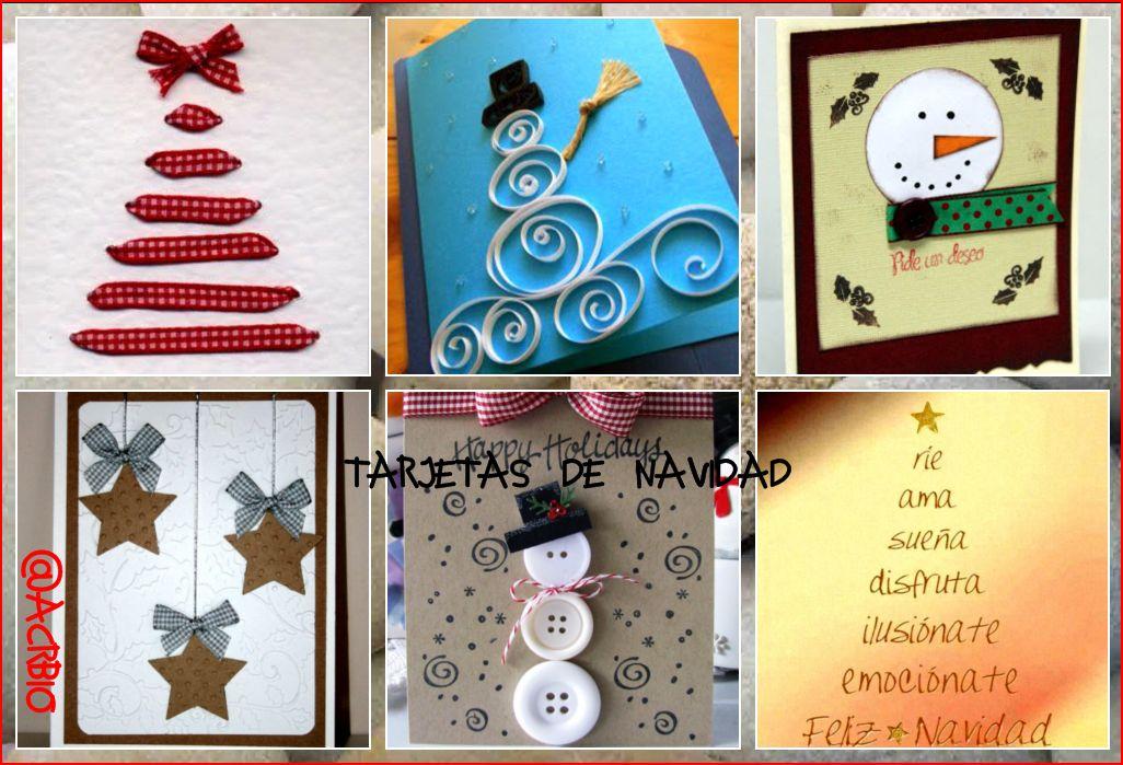 Entretenidas tarjetas de navidad para hacer en clase - Tarjetas de navidad manuales ...