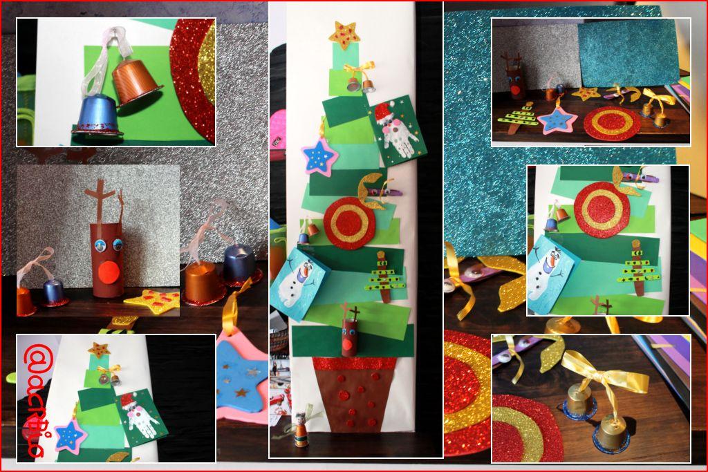 Nuestras manualidades navide as - Tarjetas de navidad manuales ...