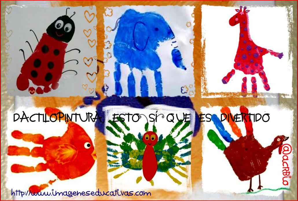 El juego de las palabras encadenadas-http://www.imageneseducativas.com/wp-content/uploads/2014/12/Dactilopintura-collage.jpg