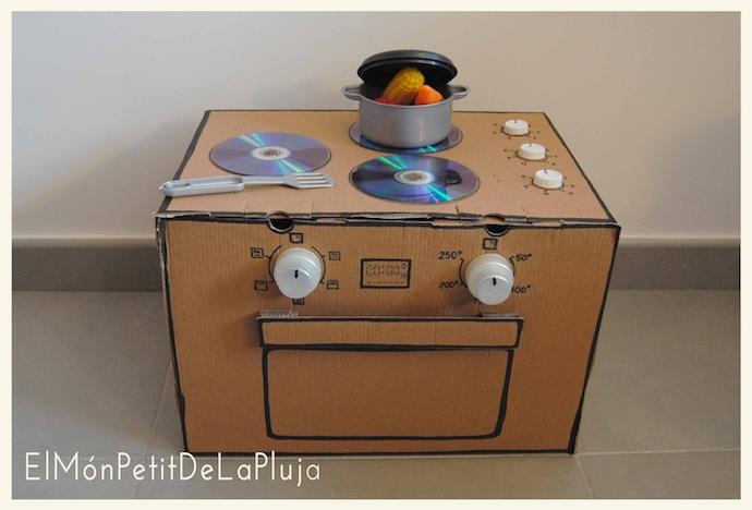 Jugetes material reciclado 5 imagenes educativas - Hacer cocinita de juguete ...