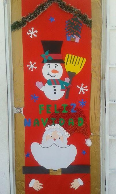 Manualidades navide as puertas imagenes educativas for Puertas decoradas santa claus