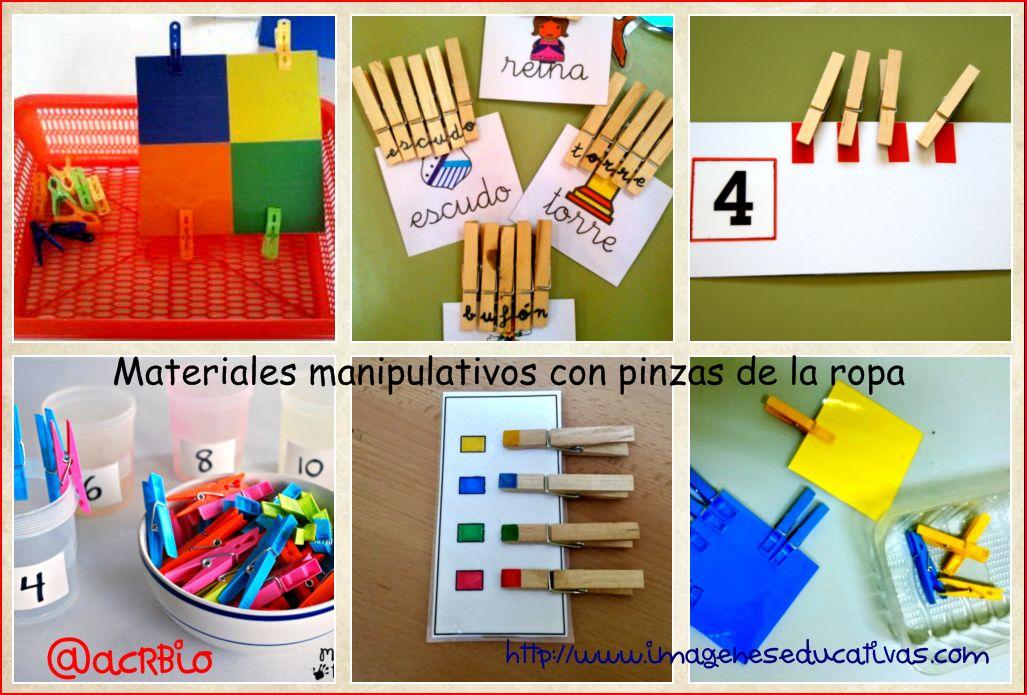Materiales manipulativos con pinzas de la ropa for Materiales para goma eva