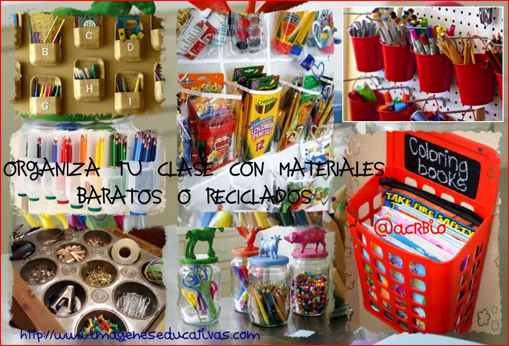 Ideas para organizar tu clase con materiales baratos o for Reciclaje jardin y decoracion