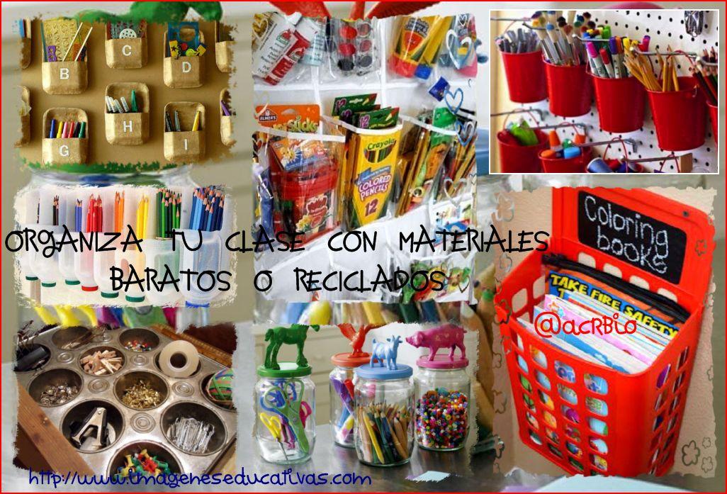 Ideas para organizar tu clase con materiales baratos o - Ideas para organizar juguetes ninos ...