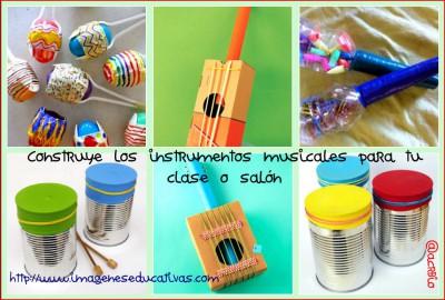 Instrumentos musicales reciclados faciles
