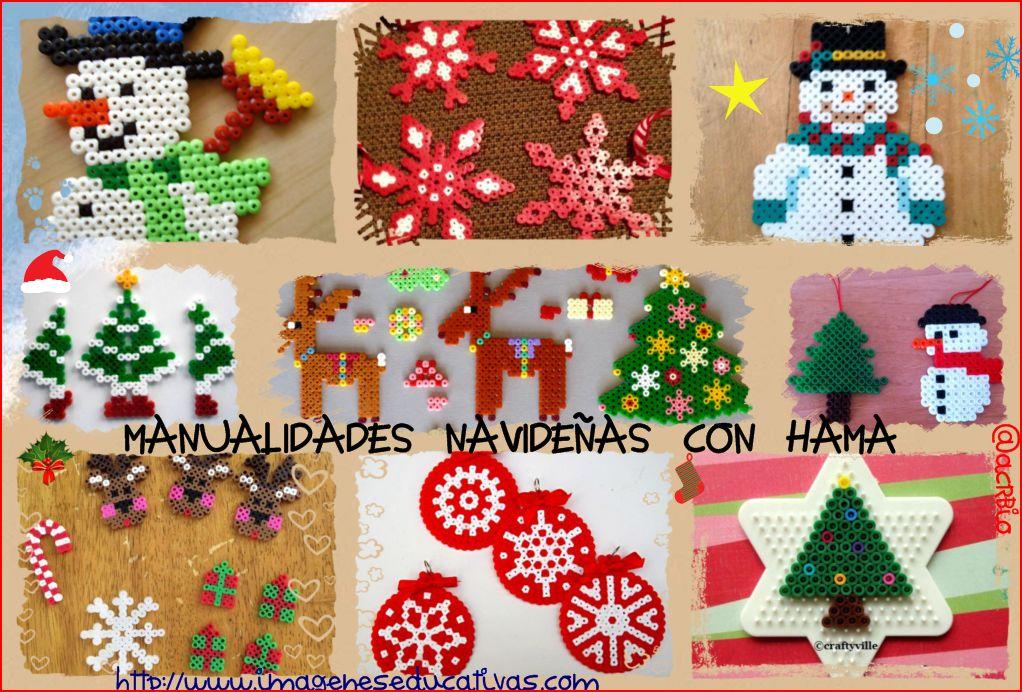 Manualidades navide as con hama - Tarjetas de navidad manuales ...