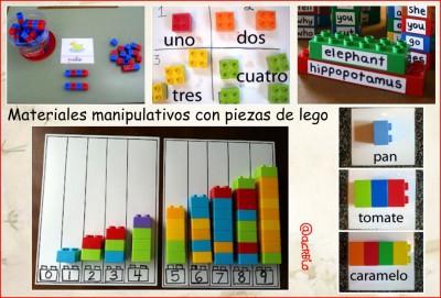 Materiales manipulativos con piezas de lego - Imagenes Educativas