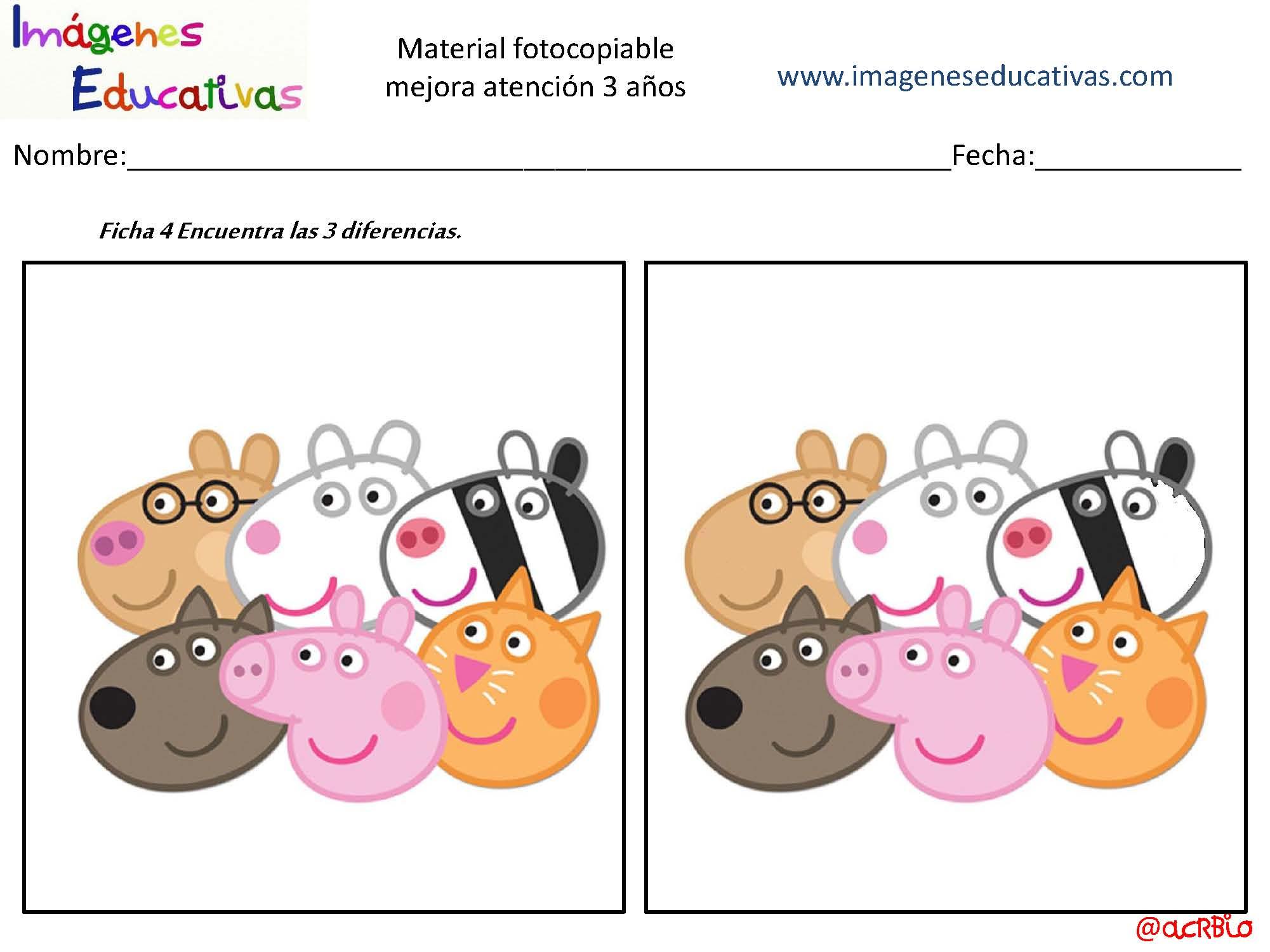 Actividades para mejorar la atenci n 3 a os p gina 05 imagenes educativas - Colores para la concentracion ...