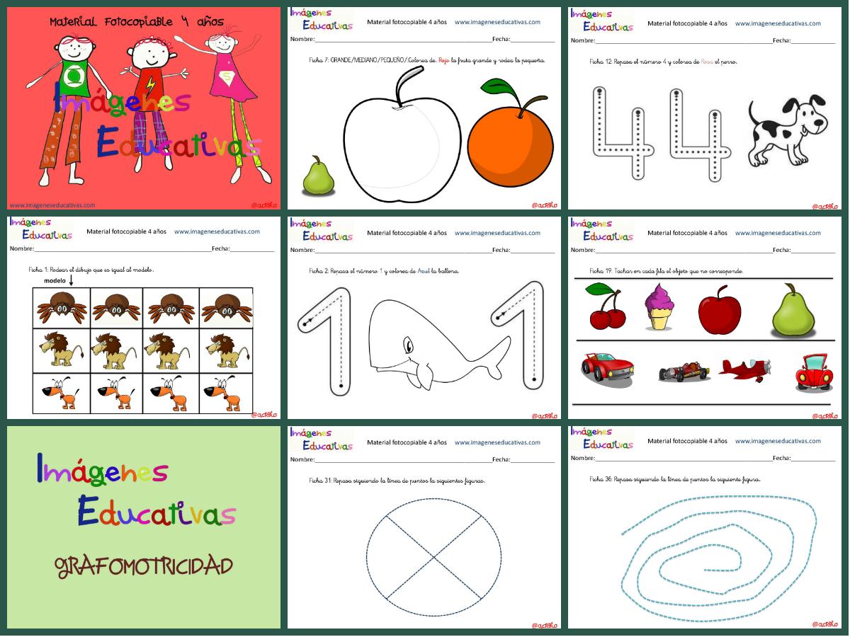 Cuadernillo de 40 actividades para 4 a os educaci n for Actividades con cartulina para ninos