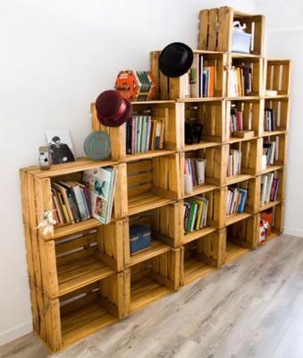 Bonitos y divertidos muebles infantiles con materiales for Muebles con cajas de fruta