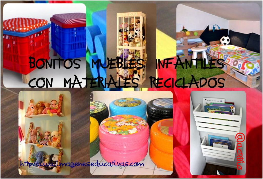 Bonitos y divertidos muebles infantiles con materiales for Decoracion reciclaje muebles