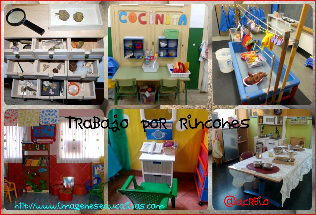Rincones educacion infantil collage imagenes educativas for Decoracion de espacios de aprendizaje