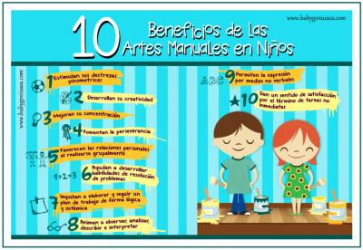 Beneficios de las manualidades creativas para niños 1