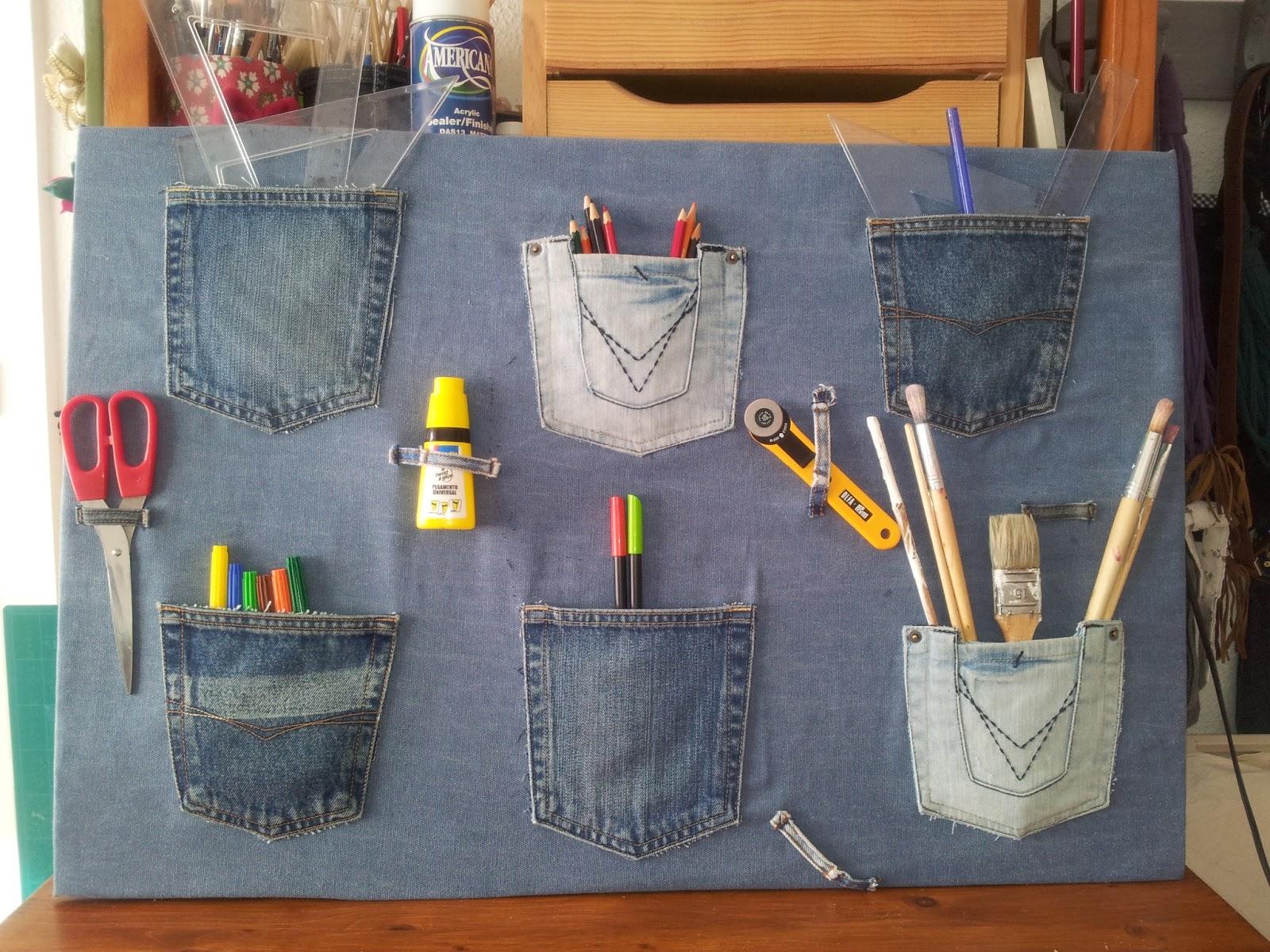 Colecci n de manualidades con pantalones vaqueros 11 imagenes educativas - Decorar pantalones vaqueros ...