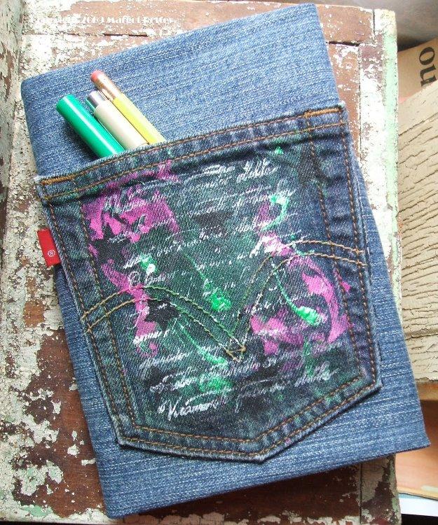 Colecci n de manualidades con pantalones vaqueros 19 imagenes educativas - Decorar pantalones vaqueros ...