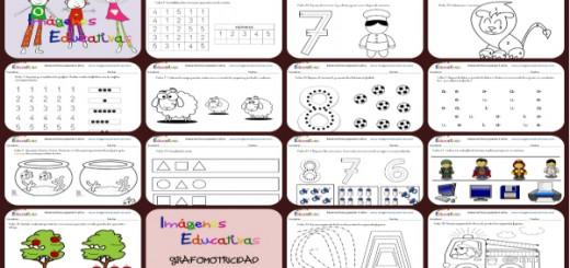 Cuadernillo 40 Actividades Eduación Preescolar 5 Años Collage