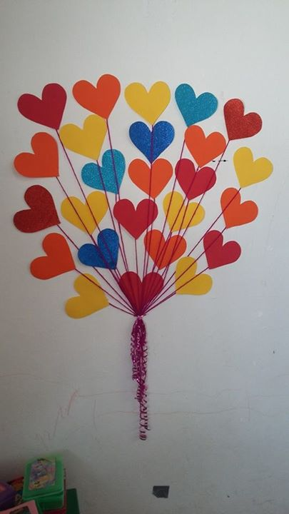 Decoracion dia del amor y dela amistad 11 imagenes for Decoracion para pared san valentin