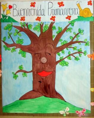 Recursos ideas para decorar el aula en primavera for Decoracion de puertas de salon de clases