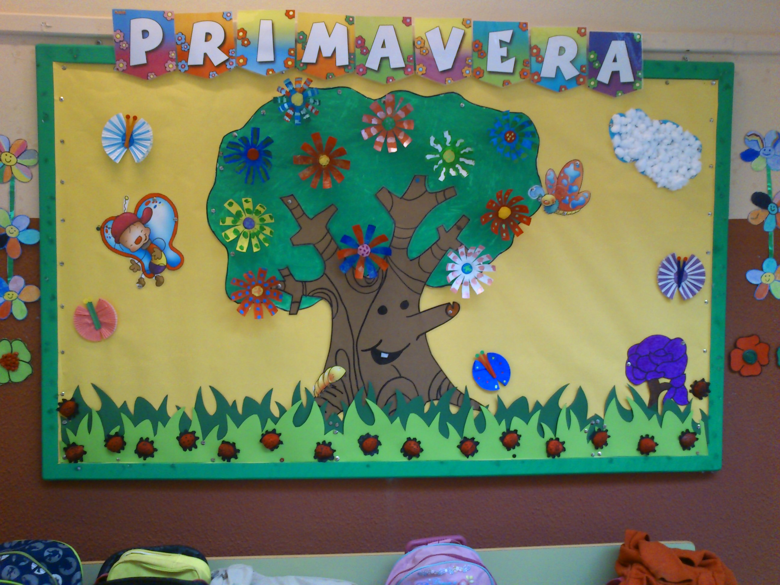 Murales primavera 13 imagenes educativas for Como decorar un mural