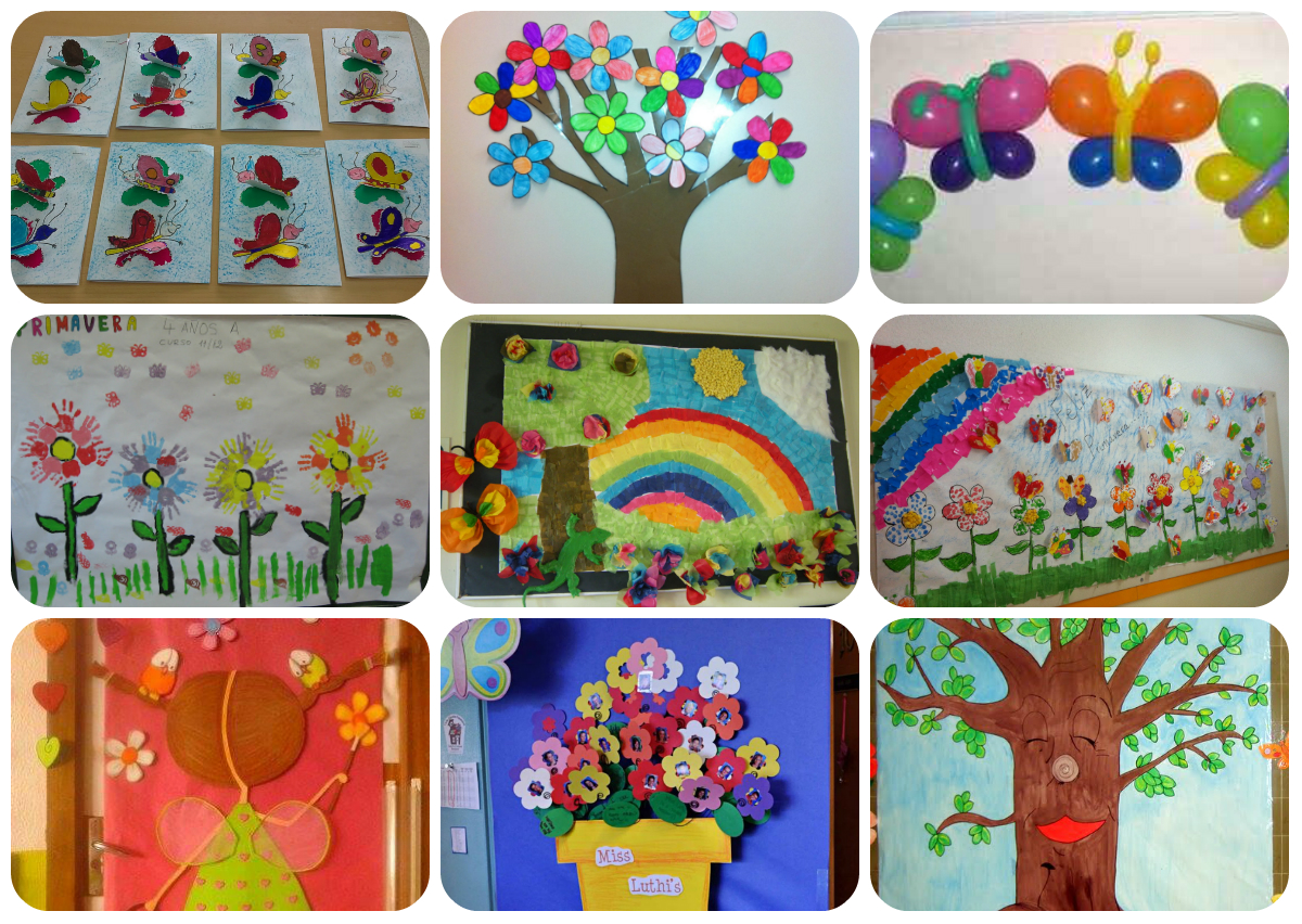 Collage decoraci n primavera imagenes educativas for Decoracion salas jardin de infantes