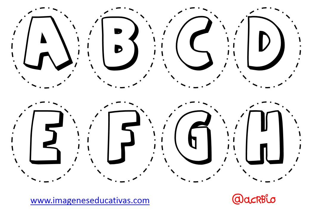 Alfabeto Para Colorear: Abecedario Para Colorear Y Numeros (1)
