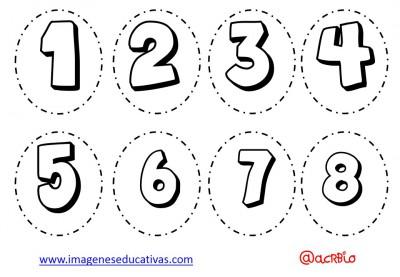 Abecedario para colorear y numeros (5)