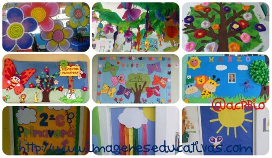 Ideas para decorar el aula en primavera vuestras for Decoracion primavera manualidades
