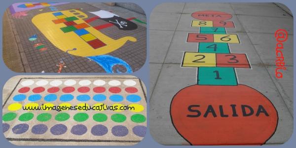 Juegos tradicionales para el patio del cole pinta tu - Pintar el piso ...