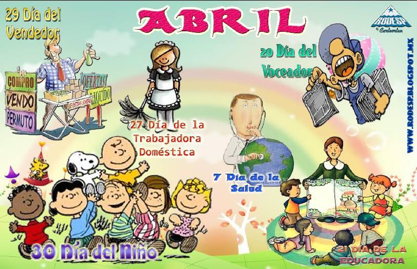 Ideas para el peri dico mural del mes de abril for Diario mural en ingles