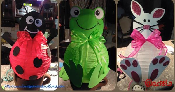 Moviles decorativos de animales con lamparas de papel - Decoracion de lamparas de papel ...