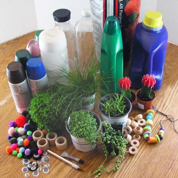 macetas botellas recicladas 1 imagenes educativas On macetas de pared recicladas