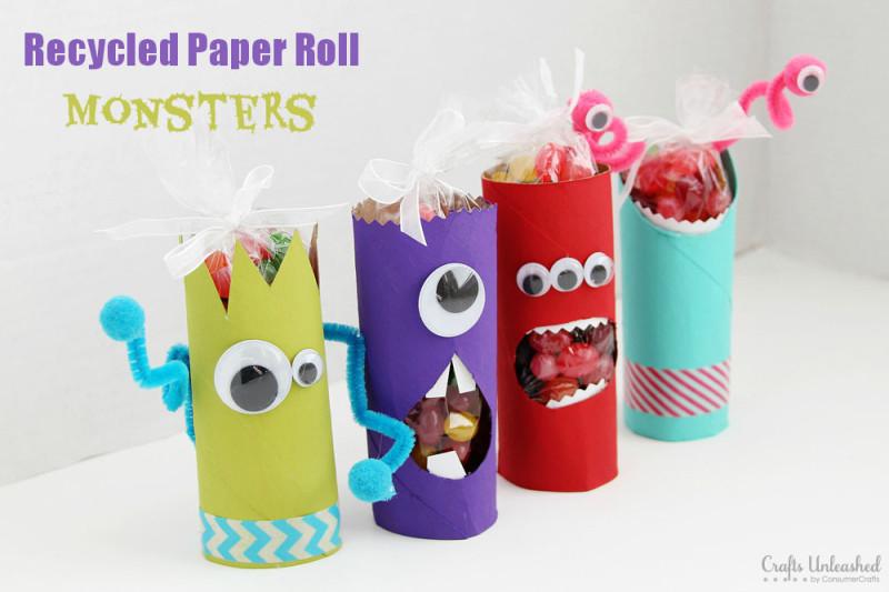Manualidades con rollos de papel higi nico 4 imagenes - Rollos de papel higienico decorados ...