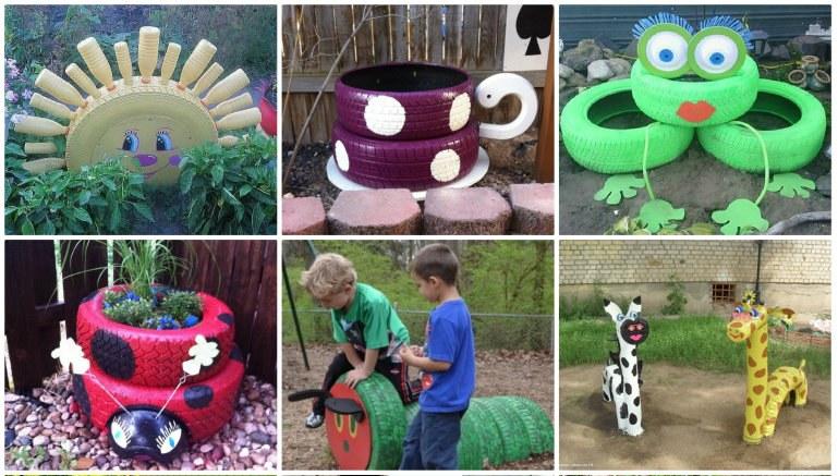 Neumaticos recneumaticos reciclados portada 2 imagenes for Ideas para decorar el jardin reciclando