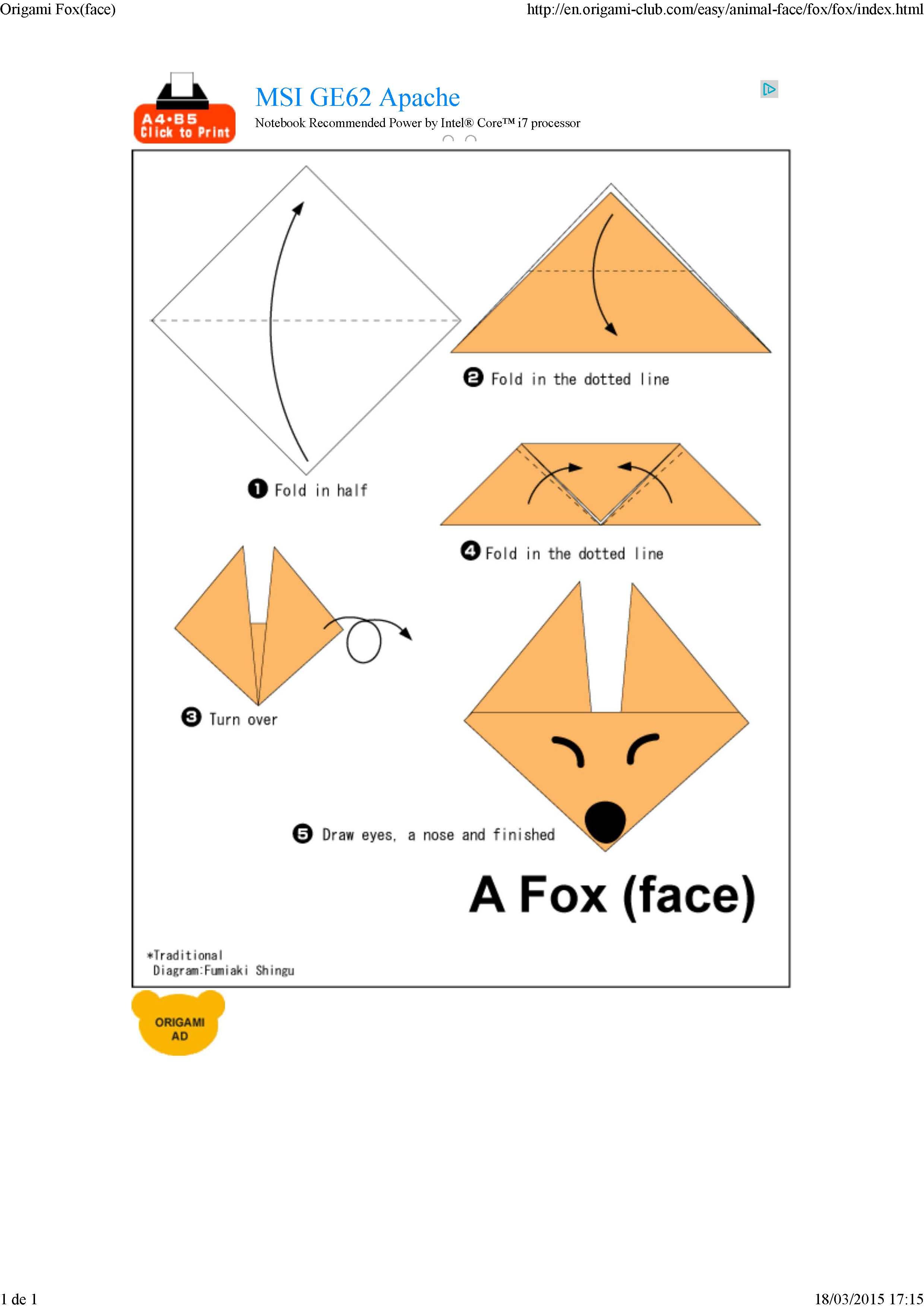Origami caras de animales p gina 7 imagenes educativas - Origami para todos ...