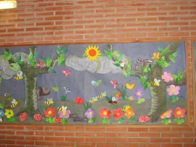 Primavera murales 1 imagenes educativas for Murales infantiles para preescolar