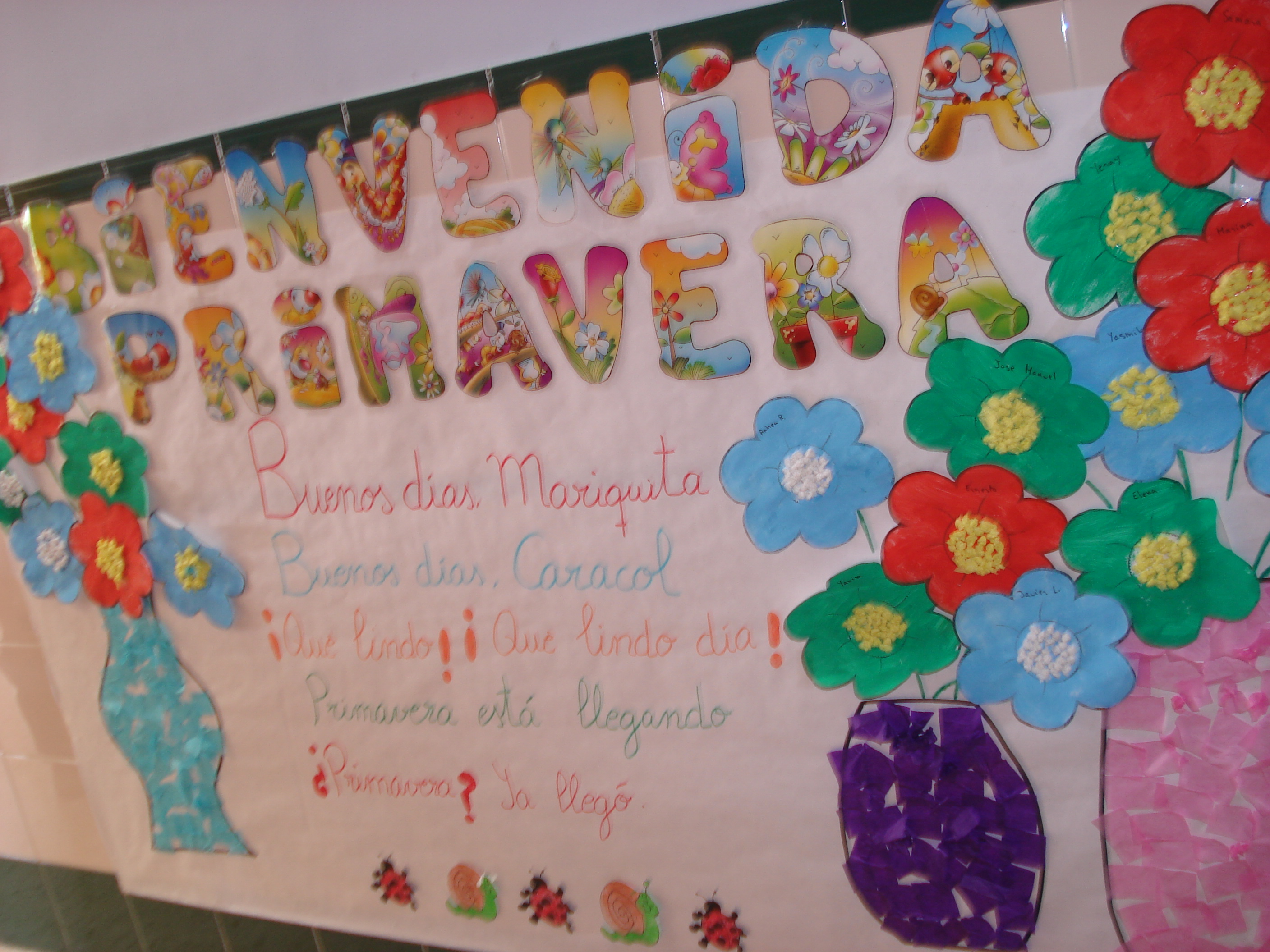 Primavera murales 11 imagenes educativas for Murales para decoracion
