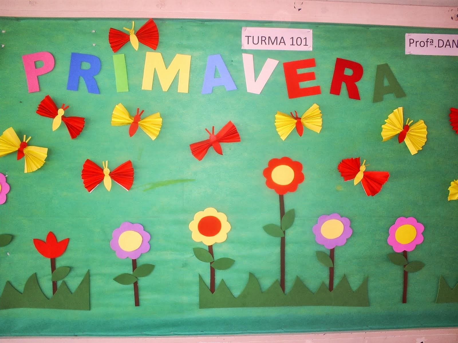 Primavera murales 2 imagenes educativas for Murales infantiles para preescolar