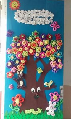 S per colecci n con m s de 100 im genes decoraci n de for Puertas decoradas con flores de papel