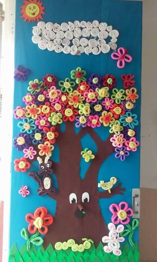 Primavera puertas 14 imagenes educativas for Puertas decoradas primavera